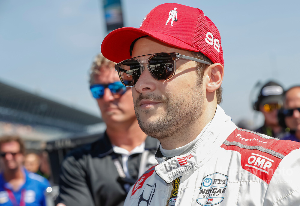 INDIANAPOLIS, IN - MAY 18: Marco Andretti #98 of United States and Andretti Herta Autosport with Curb-Agajanian, is seen at the Indianapolis Motor Speedway on May 18, 2019 in Indianapolis, Indiana. (Photo by Michael Hickey/Getty Images) *** Local Caption *** Marco Andretti