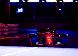 May 25, 2019 - Montecarlo, Monaco - Sebastian Vettel of Germany and Scuderia Ferrari driver goes during the qualification session at Formula 1 Grand Prix de Monaco on May 25, 2019 in Monte Carlo, Monaco. (Credit Image: © Robert Szaniszlo/NurPhoto via ZUMA Press)