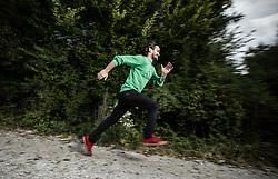 Portrait of Gaj Trcek, on October 8, 2021 in Kranj, Slovenija. Photo by Vid Ponikvar / Sportida