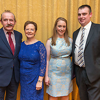 Gregory  and Patricia Rynne from Mullagh with Majella and Kevin McNamee from Miltown Malbay at the Clare Limousin Breeders 18th Annual Dinner Dance