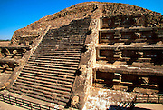 MEXICO, TEOTIHUACAN Temple of Quetzalcoatl sculpted facade