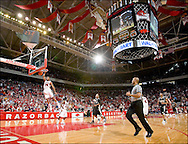 Arkansas Razorbacks vs Vanderbilt Commodores in basketball on January 14, 2006 at Bud Walton Arena in Fayetteville, Arkansas.  Arkansas wins 78 to 66. Sports photography by Wesley Hitt photography with images from the NFL, NCAA and Arkansas Razorbacks.  Hitt photography in based in Fayetteville, Arkansas where he shoots Commercial Photography, Editorial Photography, Advertising Photography, Stock Photography and People Photography