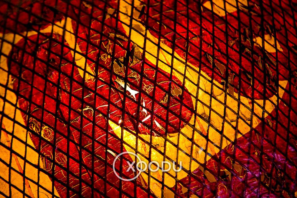 Closeup detail of traditional chinese lantern (Hoi An, Vietnam - Nov. 2008) (Image ID: 081107-1452492a)