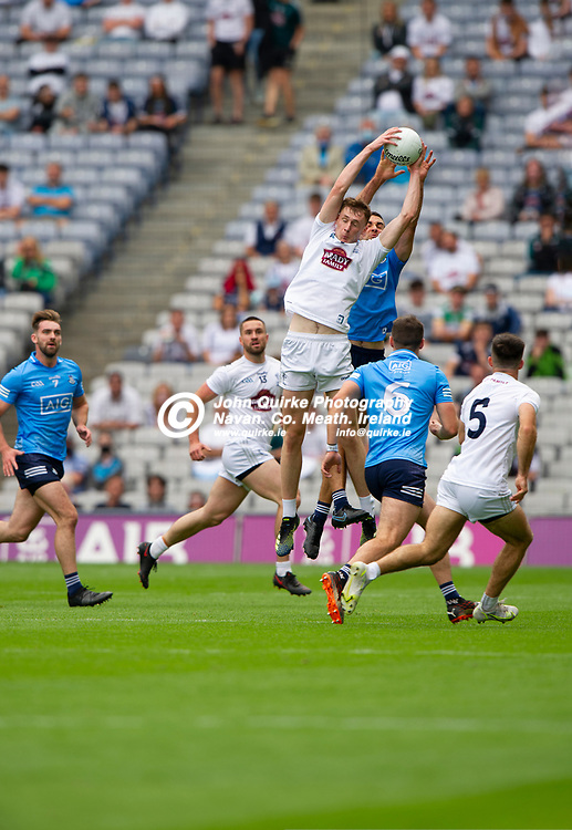 01–08-21.<br /> Dublin v Kildare - Leinster Senior Football Championship Final at Croke Park.<br /> Aaron Masterson, Kildare in action against James McCarthy, Dublin in the Leinster Senior Football Championship Final.<br /> Photo: John Quirke / www.quirke.ie<br /> ©John Quirke Photography, 16 Proudstown Road, Navan. Co. Meath. (info@quirke.ie / 046-9028461 / 087-2579454).
