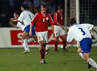 Fotball<br /> Kvalifisering til EM 2004<br /> 11.10.2003<br /> Bosnia v Danmark 1-1<br /> Norway Only<br /> Foto: Digitalsport<br /> <br /> <br /> Jesper Grønkjær