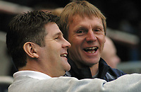 Photo: Paul Thomas.<br /> Manchester City v Scunthorpe United. The FA Cup.<br /> 07/01/2006.<br /> <br /> Brian Laws, Stuart Pearce