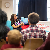 Pauletta Chief-Lee, reads Dory Ocean of Colors Wednesday, Nov. 13 at the Octavia Fellin Public Library Children's Branch during Shimá Storytelling.
