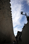 view from the wall at medieval village of Obidos, with castle walls that encircle the town, .Paulo Cunha/4see