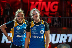 Emi van Driel, Mexime van Driel during the ceremony on the last day of the beach volleyball event King of the Court at Jaarbeursplein on September 12, 2020 in Utrecht.