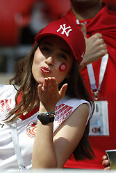 Tunisia's Fans during the 2018 FIFA World Cup Russia game, Belgium in vs Tunisia in Spartak Stadium, Moscow, Russia on June 23, 2018. Belgium won 5-2. Photo by Henri Szwarc/ABACAPRESS.COM