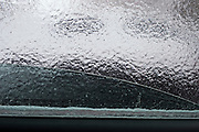 Moscow, Russia, 26/12//2010..View from inside a parked car encased in ice after a combination of sudden temperature changes and  freezing rain left large parts of Moscow under a sheet of ice.
