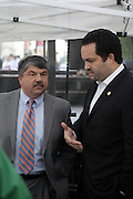 29 April 2010 New York, NY- Richard Trumka, President AFL-CIO and Ben Jealous, President, NAACP at The March on Wall Street held at City Hall Park with proceeding March on Wall Street Protest on April 29, 2010 in New York City.
