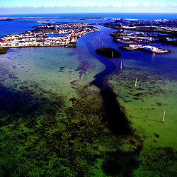Aerial photographs of Coral Reefs in the Keys, Florida.