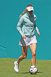 March 22, 2019 - Miami Gardens, Florida, United States Of America - MIAMI GARDENS, FLORIDA - MARCH 22:  Caroline Wozniacki on Day 5 of the Miami Open Presented by Itau at Hard Rock Stadium on March 22, 2019 in Miami Gardens, Florida..People: Caroline Wozniacki. (Credit Image: © SMG via ZUMA Wire)