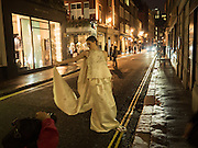 Modelling Sorapol clothes  in Soho, 19 September 2016
