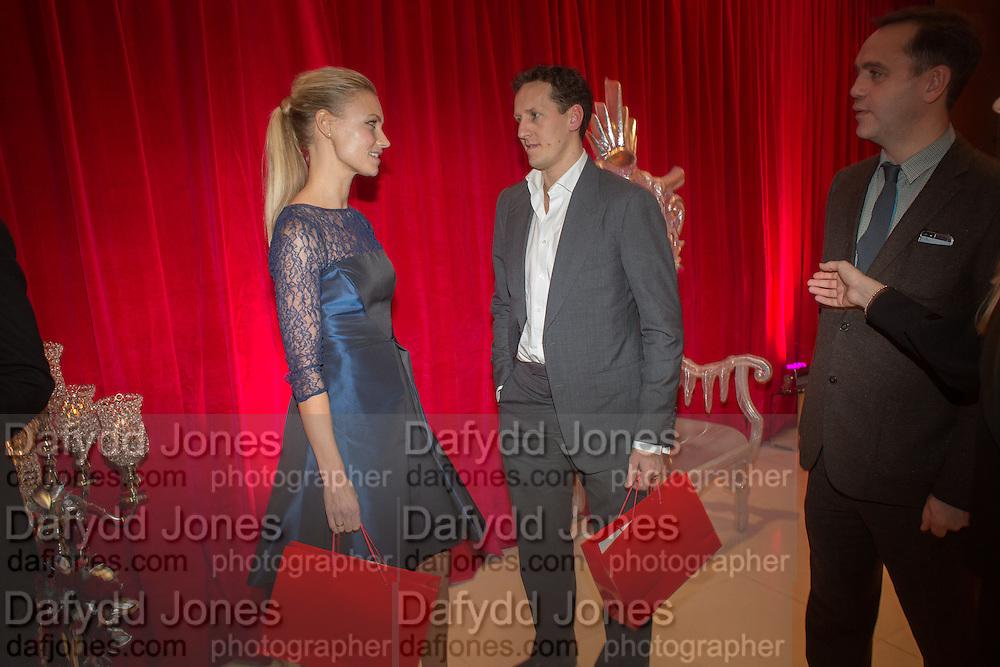 BRENDAN COLE; ZOE HOBBS, Pre -drinks at the St. Martin's Lane Hotel before a performance of the English National Ballet's Nutcracker: London Coliseum.12 December 2013