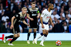 Lucas of Tottenham Hotspur takes on Donny van de Beek of Ajax  - Mandatory by-line: Robbie Stephenson/JMP - 30/04/2019 - FOOTBALL - Tottenham Hotspur Stadium - London, England - Tottenham Hotspur v Ajax - UEFA Champions League Semi-Final 1st Leg