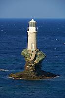 Grece, Cyclades, ile de Andros, ville de Hora, la capitale, le phare Tourlotis // Greece, Cyclades islands, Andros island, city of Hora, Tourlotis lighthouse