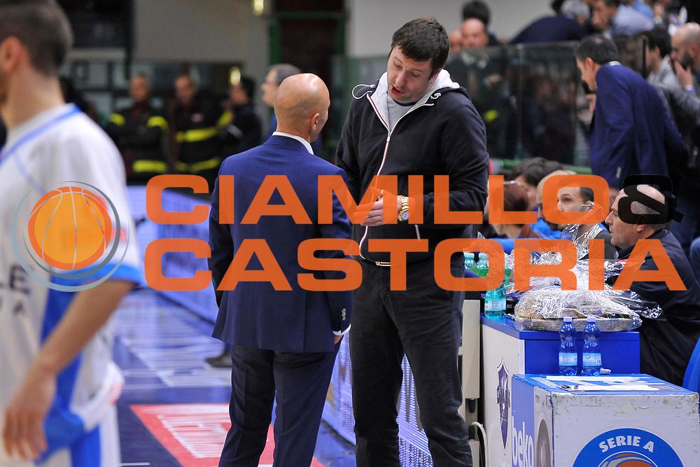 DESCRIZIONE : Eurocup 2015-2016 Last 32 Group N Dinamo Banco di Sardegna Sassari - Cai Zaragoza<br /> GIOCATORE : Stefano Sardara Dmitry Gerasimenko<br /> CATEGORIA : Ritratto Before Pregame Fair Play<br /> EVENTO : Eurocup 2015-2016<br /> GARA : Dinamo Banco di Sardegna Sassari - Cai Zaragoza<br /> DATA : 27/01/2016<br /> SPORT : Pallacanestro <br /> AUTORE : Agenzia Ciamillo-Castoria/C.Atzori