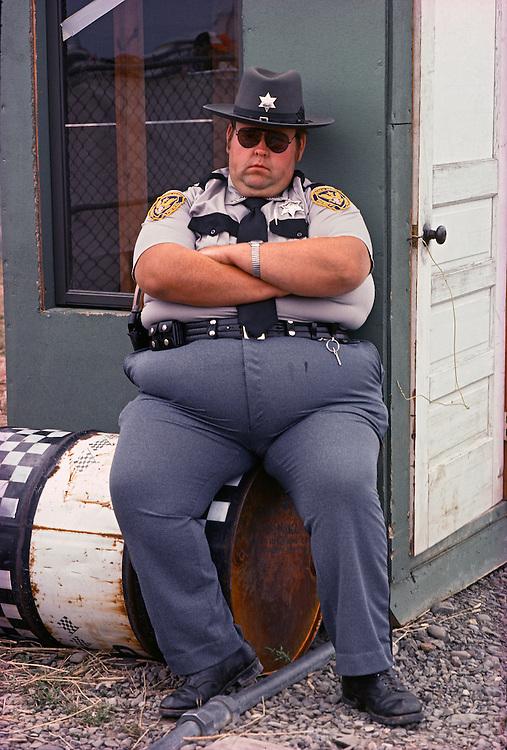 Sheriff, Watkins Glen, New York, photographed in 1977