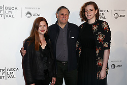(L-R) Bonnie Wright, Craig Hatkoff and Isabella Hatkoff attend 'The Circle' screening during the 2017 TriBeCa Film Festival at at BMCC Tribeca PAC on April 26, 2017 in New York City. (Photo by Debby Wong/imageSPACE) *** Please Use Credit from Credit Field ***