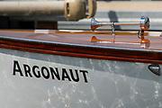 Henley on Thames, England, United Kingdom, 3rd July 2019, Henley Royal Regatta  Umpire Launch, Argonaut, on Henley Reach, [© Peter SPURRIER/Intersport Image]<br /> <br /> 11:44:12 1919 - 2019, Royal Henley Peace Regatta Centenary,