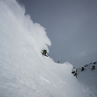 Johan Olafson, out for a quick lap during a reprieve from the 10 day storm, Deeper, AK.