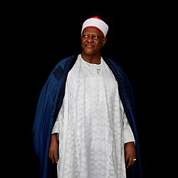 Portrait of the Dr. Haliru Yahaya, the emir of Shonga (Kwara State) in Northern Nigeria. <br /> <br /> For a portrait series on champions leading to end child marriage in Africa. All images made at the first-ever African Girls' Summit on Ending Child Marriage, held in Lusaka, Zambia. The meeting aimed to facilitate exchange of good practices and challenges in ending child marriage, and to secure and renew commitments from African stakeholders.