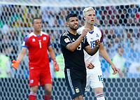 disappointment Sergio Aguero (Argentina) <br /> Moscow 16-06-2018 Football FIFA World Cup Russia  2018 <br /> Argentina - Iceland / Argentina - Islanda<br /> Foto Matteo Ciambelli/Insidefoto