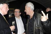 NICK DAVIES; TOM WATSON, The 2011 Groucho Club Maverick Award. The Groucho Club. Soho, London. 14 November 2011. <br /> <br />  , -DO NOT ARCHIVE-© Copyright Photograph by Dafydd Jones. 248 Clapham Rd. London SW9 0PZ. Tel 0207 820 0771. www.dafjones.com.