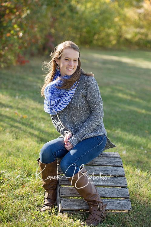 Jillian B senior portrait session.  ©2015 Karen Bobotas Photographer