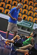 Sassari 14 Agosto 2012 - Qualificazioni Eurobasket 2013 -Allenamento<br /> Nella Foto : RICCARDO PITTIS DANILE HACKETT<br /> Foto Ciamillo