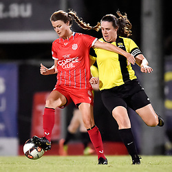 BRISBANE, AUSTRALIA - NOVEMBER 19:  during the Capital League 1 Premier Senior Women's match between Olympic FC and Pine Hills at Goodwin Park on November 19, 2020 in Brisbane, Australia. (Photo by Patrick Kearney)