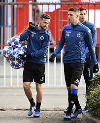 December 10, 2018 - Bruges, Belgique - BRUGGE, DECEMBER 10 : Siebe Schrijvers forward of Club Brugge and Brandon Mechele defender of Club Brugge  pictured during practice session the day before the UEFA Champions League group A match between Club Brugge KV and Atletico Madrid on December 10, 2018 in Brugge, 10/12/2018 (Credit Image: © Panoramic via ZUMA Press)