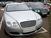 Bentley cars on dealership forecourt
