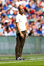 Manchester City manager Pep Guardiola looks frustrated - Rogan/JMP - 05/08/2018 - FOOTBALL - Wembley Stadium - London, England - Chelsea v Manchester City - The FA Community Shield.