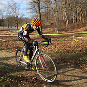 Jeremy Durrin in action during the Cyclo-Cross, Supercross Cup 2013 UCI Weekend at the Anthony Wayne Recreation Area, Stony Point, New York. USA. 24th November 2013. Photo Tim Clayton