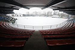 View on the football field on February 22, 2013 in Fazanerija, Murska Sobota, Slovenia. (Photo by Ales Cipot / Sportida)