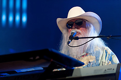 Leon Russell performs during a gala night to celebrate Tommy Lipuma's 75th birthday, as part of the Montreux Jazz Festival in Montreux, Switzerland on July 5, 2011. Photo by Loona/ABACAPRESS.COM