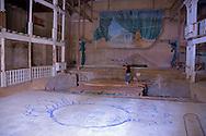 Old theater in Gibara, Hoguin, Cuba.