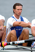 FISA World Cup Rowing Munich Germany..28/05/2004..GBR M8+ Ed Coode. [Mandatory Credit: Peter Spurrier: Intersport Images].