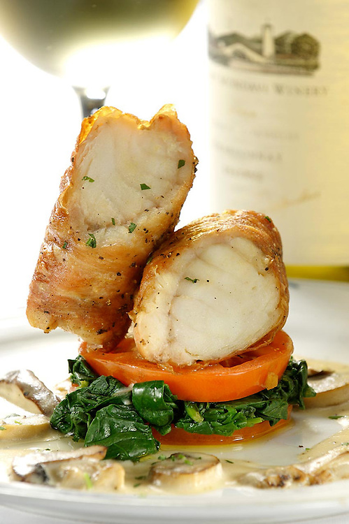 Garlic & Parmesan-Crusted Chicken Breast with Oyster Mushrooms, Port Wine Reduction