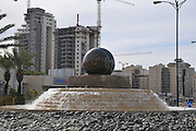 Israel, Beer Sheva, A globe on a traffic circle in the city