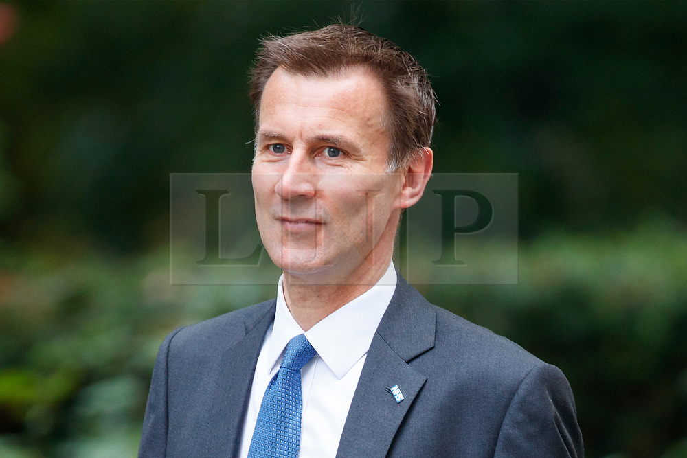 © Licensed to London News Pictures. 18/07/2017. Health Secretary JEREMY HUNT attends a cabinet meeting in Downing Street, London on Tuesday, 18 July 2017 London, UK. Photo credit: Tolga Akmen/LNP