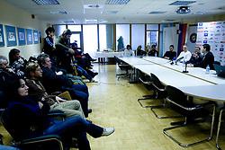 Press conference of Slovenian Handball federation, when presented new web page http://www.rokometna-zveza.si/, on January 15, 2009, in RZS, Ljubljana, Slovenia. (Photo by Vid Ponikvar / Sportida)