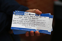 Football - 2017 / 2018 Premier League - Southampton vs. Huddersfield Town<br /> <br /> Mathias Jorgensen of Huddersfield Town has given the fans  who traveled to Southampton a free drink, only for the voucher to say Monday 26th rather than Tuesday at St Mary's Stadium Southampton<br /> <br /> COLORSPORT/SHAUN BOGGUST