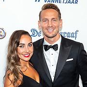 NLD/Hilversum/20190902 - Voetballer van het jaar gala 2019, Luuk de Jong en partnner Lisanne van Zutven