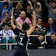 Anadolu Efes's Sasha Vujacic during their Euroleague Top 16 game13 basketball match Anadolu Efes between Unicaja Malaga at the Abdi Ipekci Arena in Istanbul at Turkey on Thursday, March, 28, 2013. Photo by Aykut AKICI/TURKPIX