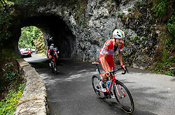 Andrea Vendrame (ITA) of Androni Giocattoli - Sidermec and Fausto Masnada (ITA) of Androni Giocattoli - Sidermec at climb to Predmeja during 4th Stage of 26th Tour of Slovenia 2019 cycling race between Nova Gorica and Ajdovscina (153,9 km), on June 22, 2019 in Slovenia. Photo by Vid Ponikvar / Sportida