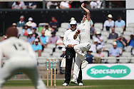 Lancashires Graham Onions during the Specsavers County Champ Div 2 match between Lancashire County Cricket Club and Northamptonshire County Cricket Club at the Emirates, Old Trafford, Manchester, United Kingdom on 14 May 2019.